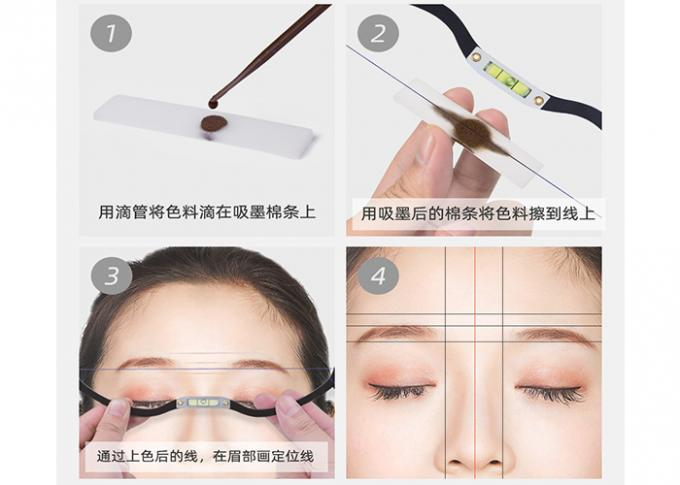 Black Eyebrow Ruler Microblading Mapping String Marker  0